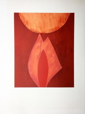 リトグラフ Bazaine - AFF AVT MAM (BLASONS). Lithographie originale de 1975.