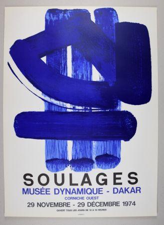 リトグラフ Soulages - AFFICHE DAKAR