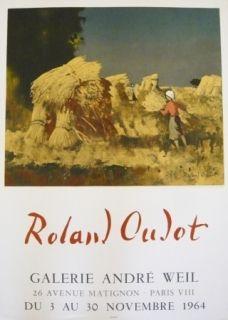 掲示 Oudot - Affiche exposition galerie André Weil