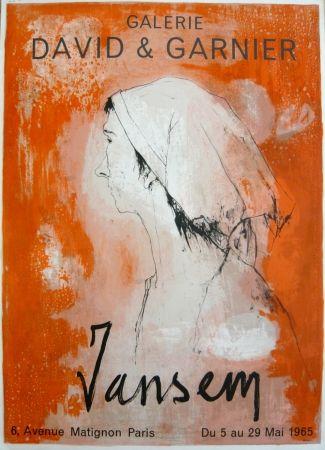 掲示 Jansem - Affiche exposition galerie David & Garnier