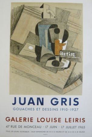 掲示 Gris  - Affiche exposition  galerie Louise Leiris