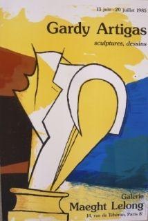 掲示 Artigas - Affiche exposition galerie Maeght Lelong
