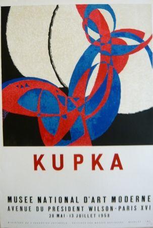 リトグラフ Kupka - Affiche exposition Musée d'art moderne