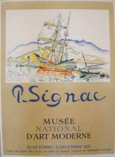 掲示 Signac - Affiche exposition Musée d'art moderne