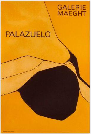 掲示 Palazuelo - Affiche lithographique originale de la Galerie Maeght 1963.