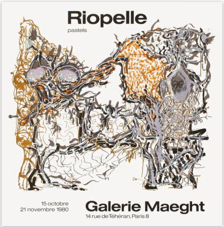 掲示 Riopelle - Affiche lithographique originale de la Galerie Maeght 1980.