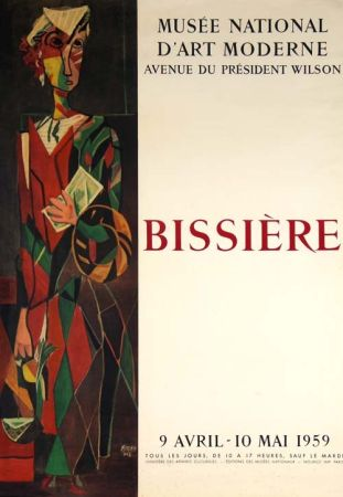 リトグラフ Bissiere - Affiche Musee D'art Moderne de Paris