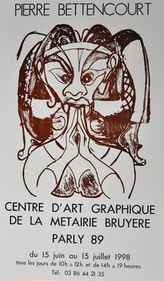 掲示 Bettencourt - Affiche P.B.