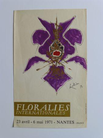 掲示 Mathieu - Affiche pour les floralies de Nantes 1971
