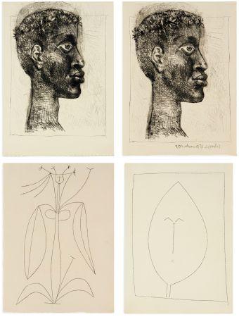 挿絵入り本 Picasso - Aimé Césaire : CORPS PERDU. 32 gravures + suite sur Japon (1950)
