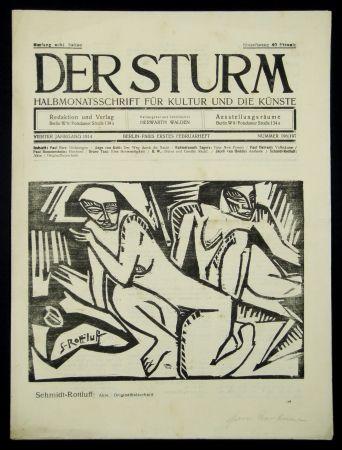 木版 Schmidt-Rottluff - Akte (Nudes)