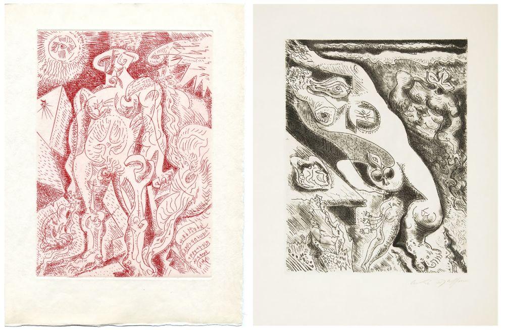 挿絵入り本 Masson - Alain Jouffroy : LE SEPTIÈME CHANT (1974)