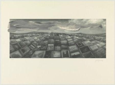 リトグラフ Perejaume - A.L.Barcelona 2000