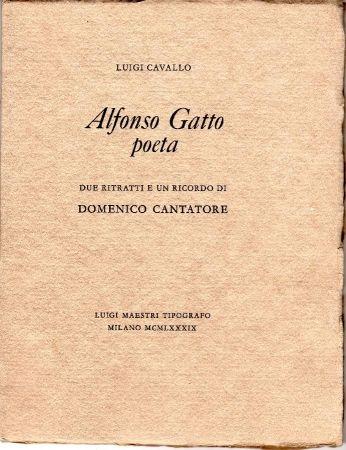挿絵入り本 Cantatore - Alfonso Gatto Poeta