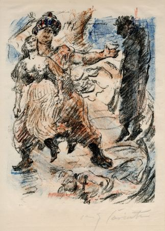 リトグラフ Corinth - Aline fällt in die Hand der Korsaren