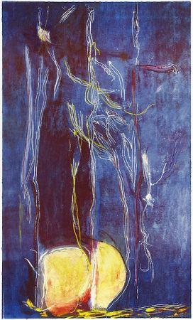 木版 Frankenthaler - All About Blue