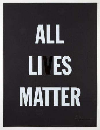 リトグラフ Hank - All Li es Matter