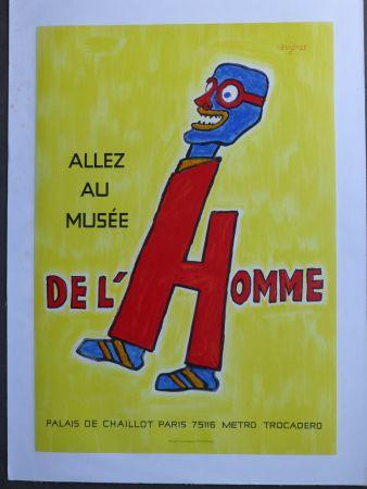 掲示 Savignac - Allez au musée de l'homme
