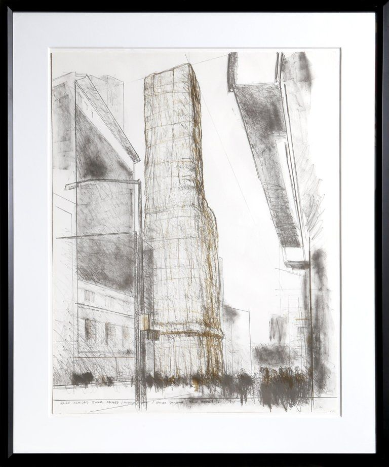 リトグラフ Christo - Allied Chemical Tower, Packed, Project for Number 1 Times Square from