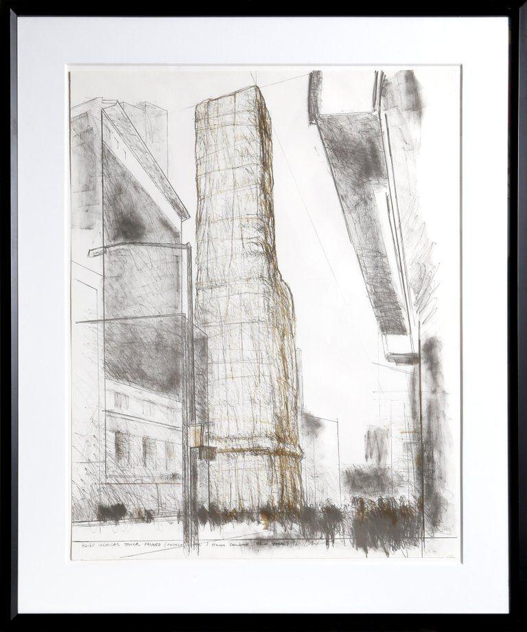 リトグラフ Christo - Allied Chemical Tower, Packed, Project for Number 1 Times Square from