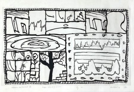彫版 Alechinsky - Allusion au traité des excitants