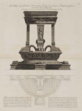 彫版 Piranesi - Altar de Apolo
