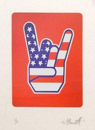 シルクスクリーン Burnetti - America Hand