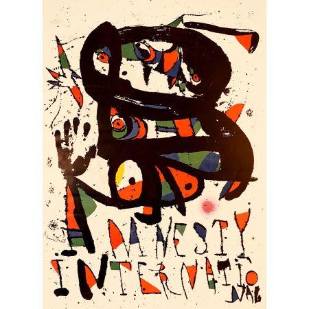 リトグラフ Miró - AMNESTY INTERNATIONAL 1975. Lithographie. Tirage de luxe sur Arches.