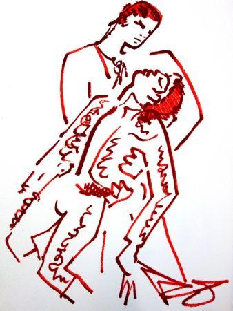 リトグラフ Cocteau - Amoureux