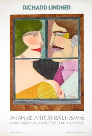 リトグラフ Lindner - An American portrait Santa Barbara Museum