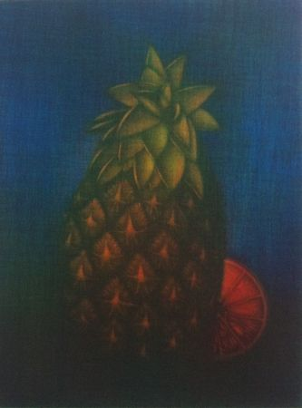 メゾチント彫法 Schkolnyk - Ananas