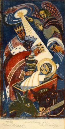 木版 Tschudi - Anbetung der 3 Könige / Adoration of the Three Kings