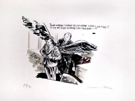シルクスクリーン Pettibon - And When I Want to Fly Home What Do I Do