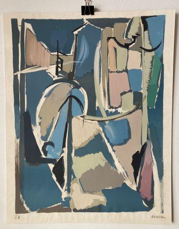 リトグラフ Lanskoy - André Lanskoy (1902 - 1976). Moyse.