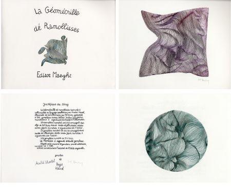 挿絵入り本 Bury - André MARTEL : LA GÉOMÉTRILLE DÉ RAMOLLISSES. Textures paralloïdes d'André Martel vec dé mollimages de Pol Bury (1975)