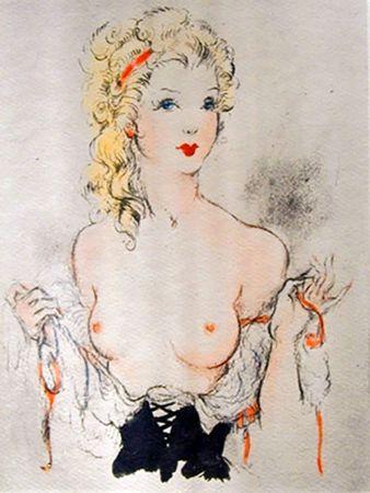 挿絵入り本 Icart - Andréa de Nerciat : FÉLICIA OU MES FREDAINES. 20 eaux-fortes par Louis Icart (1947).