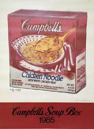 オフセット Warhol - Andy Warhol 'Campbell's Soup Box' 1985 Hand Signed Original Pop Art Poster