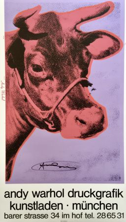 シルクスクリーン Warhol - Andy Warhol 'Cow Wallpaper (Magenta)' 1983 Hand Signed Original Pop Art Poster