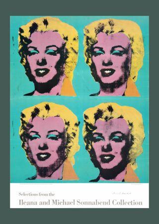 リトグラフ Warhol - Andy Warhol 'Four Marilyns' 1985 Hand Signed Original Pop Art Poster
