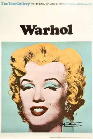 リトグラフ Warhol - Andy Warhol 'Marilyn (Tate Gallery)' 1971 Hand Signed Original Pop Art Poster