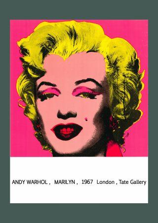 リトグラフ Warhol - Andy Warhol 'Marilyn (Tate Gallery)' 1987 Hand Signed Original Pop Art Poster with COA