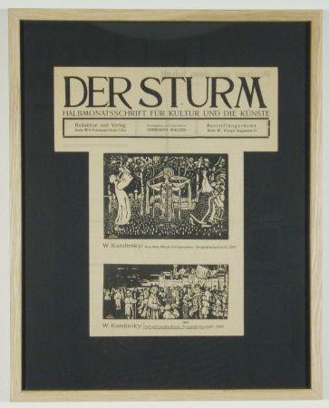 木版 Kandinsky - Ankunft der Kaufleute (1903), Aus dem Album Xylographies (1907)