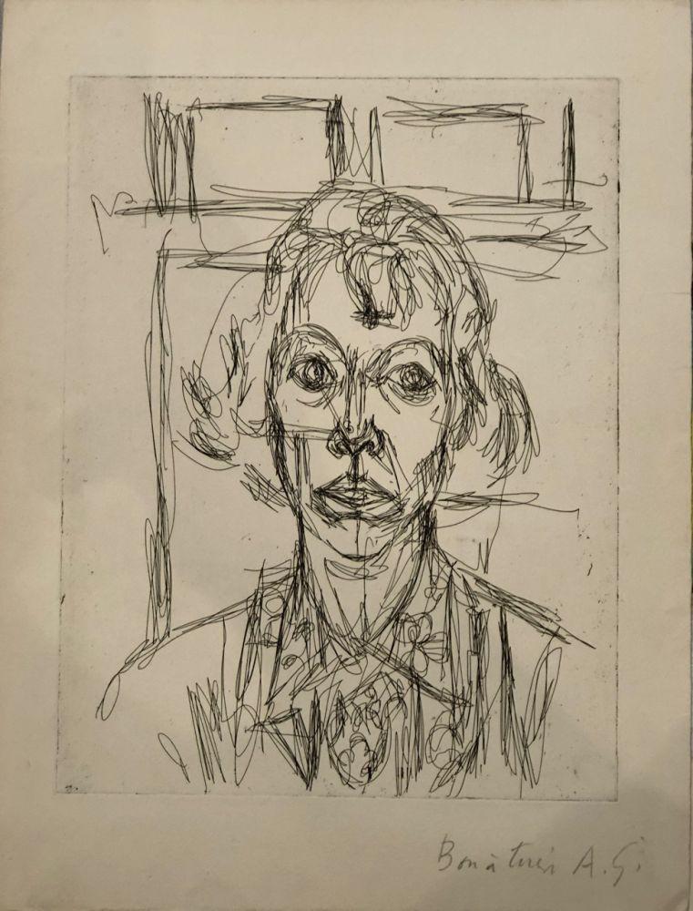 エッチング Giacometti - Annette III