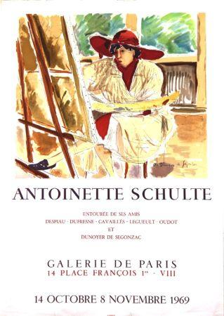 リトグラフ De Segonzac - Antoinette  Schulte  Galerie de Paris