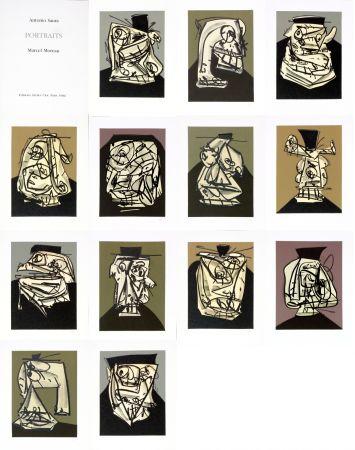 技術的なありません Saura - Antonio Saura/Portrait/Marcel Moreau/Edtions Atelier Clot