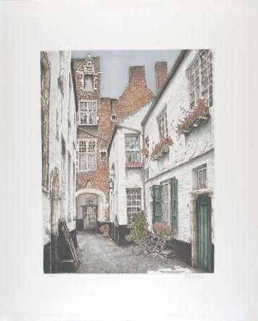 エッチング Hebbelinck - Antwerpen : Vlaeyckensgang - Den Grooten Baers