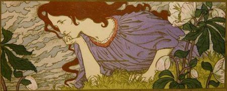 リトグラフ Grasset - Anxiété
