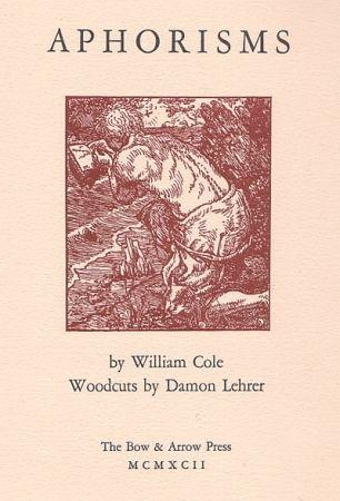 挿絵入り本 Lehrer - Aphorisms (book with nine original woodcuts)