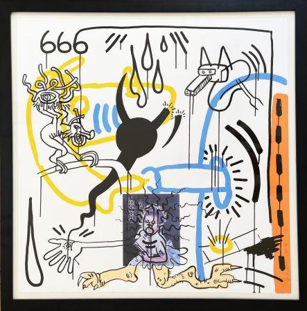 シルクスクリーン Haring - Apocalypse 8 from the Apocalypse series 1988