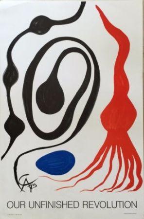 オフセット Calder - Aquatic Forms With Red Squid